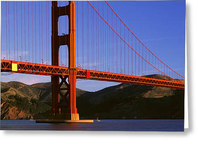 California Ocean Photography Greeting Cards - Golden Gate Bridge, San Francisco Greeting Card by Panoramic Images