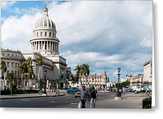 Neo Greeting Cards - Government Building In A City, El Greeting Card by Panoramic Images