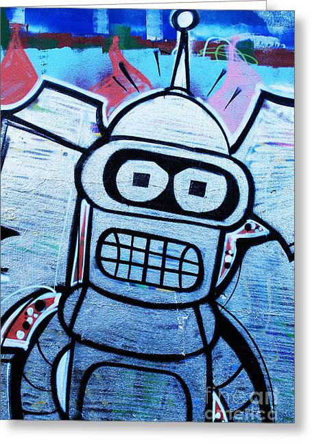 Recently Sold -  - Ink Drawing Greeting Cards - Graffiti Greeting Card by Luis Alvarenga