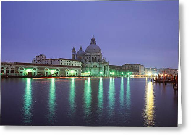 Colorful Photography Greeting Cards - Grand Canal, Venice, Italy Greeting Card by Panoramic Images