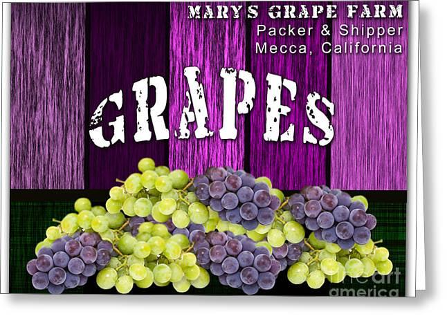 Grape Farm Greeting Card by Marvin Blaine