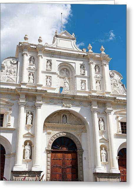 Guatemala, Antigua Greeting Card by Michael Defreitas