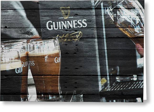 Saloons Greeting Cards - Guinness Greeting Card by Joe Hamilton
