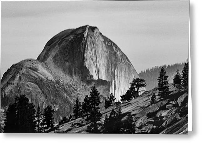 Domes Greeting Cards - Half Dome Greeting Card by Cat Connor