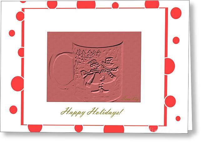 Cheer On Digital Greeting Cards - Happy Holidays Card Greeting Card by Oksana Semenchenko