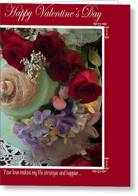 Photographs With Red. Greeting Cards - Happy Valentines Day #5 Greeting Card by Ivete Basso