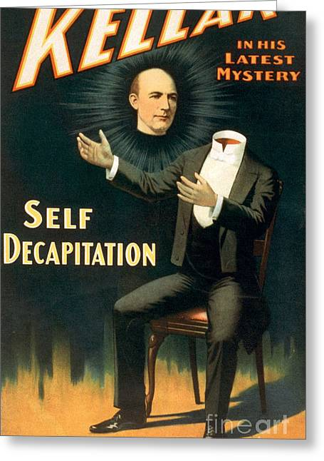 Magic Show Greeting Cards - Harry Keller, American Magician Greeting Card by Photo Researchers