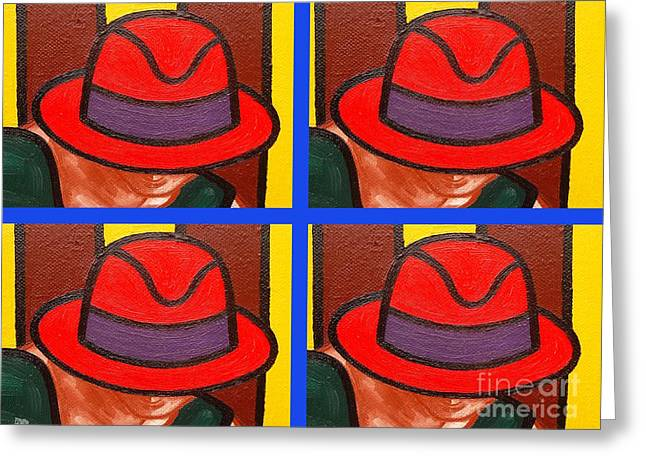 Irish Hat Greeting Cards - 4 Hats Greeting Card by Patrick J Murphy