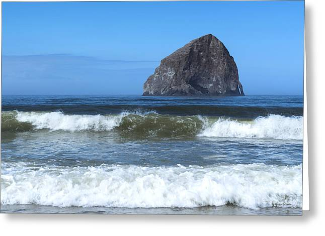 Beautiful Scenery Greeting Cards - Haystack Rock at Cape Kiwanda Greeting Card by Yefim Bam