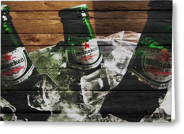 Tap Greeting Cards - Heineken Greeting Card by Joe Hamilton