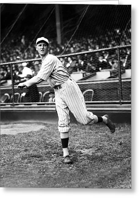 Baseball Game Greeting Cards - Herbert J. Herb Pennock Greeting Card by Retro Images Archive