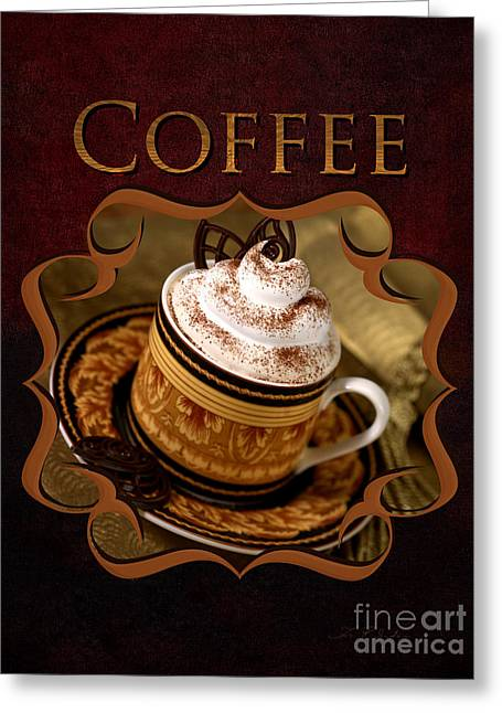 Cappuchino With Choclates Greeting Card by Iris Richardson
