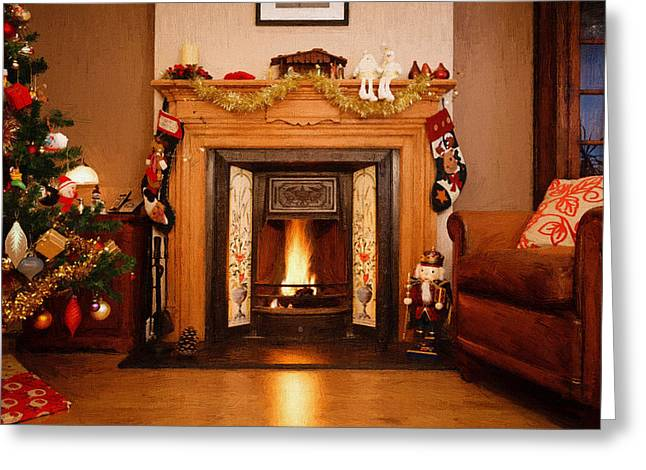 New Year Greeting Cards - Home Christmas Decorations Greeting Card by Victor Gladkiy