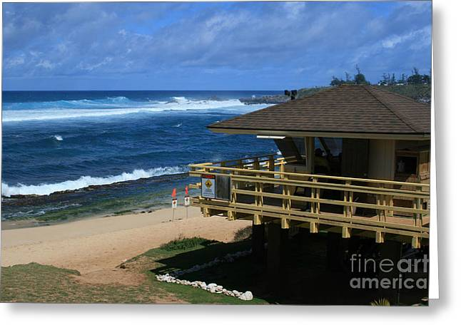 Hookipa Beach Maui North Shore Hawaii Greeting Card by Sharon Mau