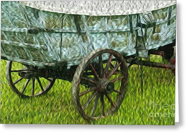 Conestoga Greeting Cards - 4 Horse Power Greeting Card by Paul W Faust -  Impressions of Light