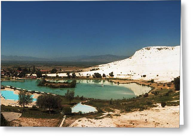 Natural Pool Greeting Cards - Hot Springs And Travertine Pool Greeting Card by Panoramic Images