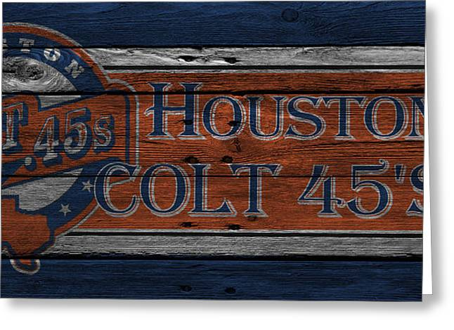 Baseball Greeting Cards - HOUSTON COLT 45s Greeting Card by Joe Hamilton