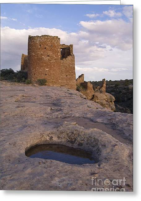 The Plateaus Greeting Cards - Hovenweep Castle Ruins Greeting Card by John Shaw