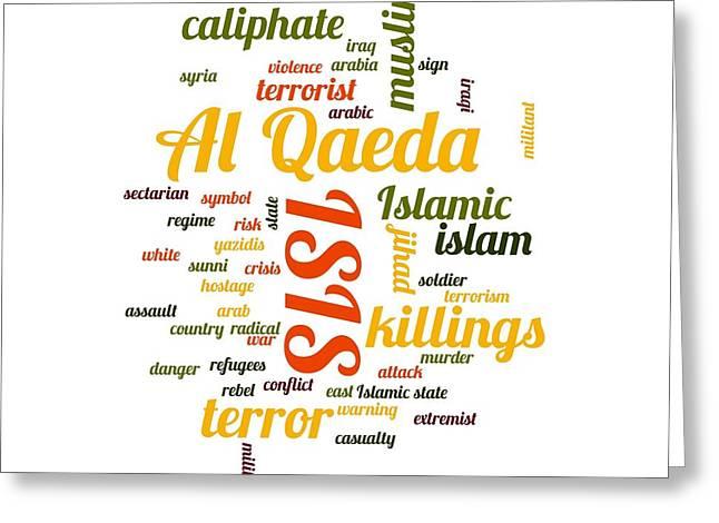 Jihad Digital Art Greeting Cards - Isis Greeting Card by Henrik Lehnerer