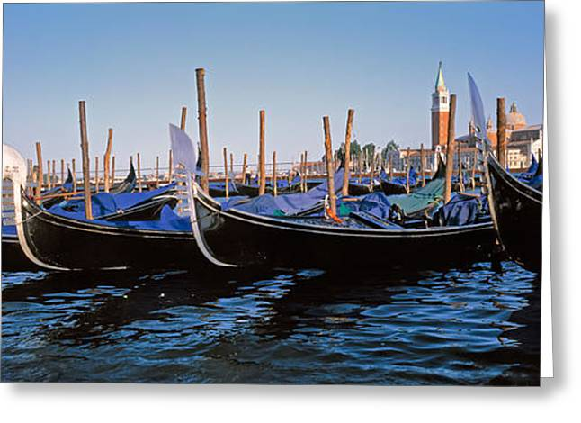 Reflections Of Sky In Water Greeting Cards - Italy, Venice, San Giorgio Greeting Card by Panoramic Images
