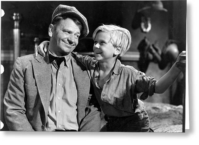 Jackie Greeting Cards - Jackie Cooper Greeting Card by Silver Screen