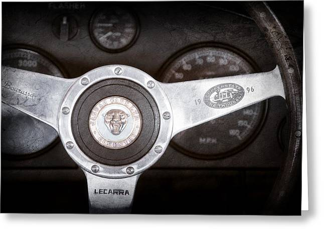 Jaguars Greeting Cards - Jaguar Steering Wheel Emblem Greeting Card by Jill Reger