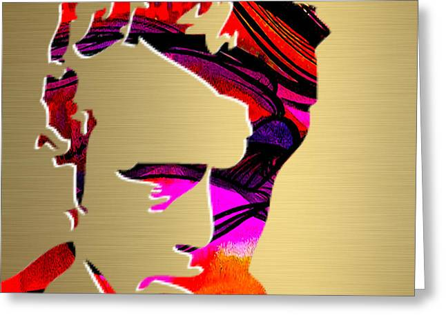 Dean Greeting Cards - James Dean Gold Series Greeting Card by Marvin Blaine