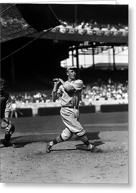 Hall Of Fame Baseball Players Greeting Cards - James L. Sunny Jim Bottomley Greeting Card by Retro Images Archive