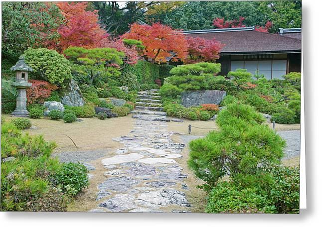 Japan, Kyoto, Arashiyama, Sagano Greeting Card by Rob Tilley
