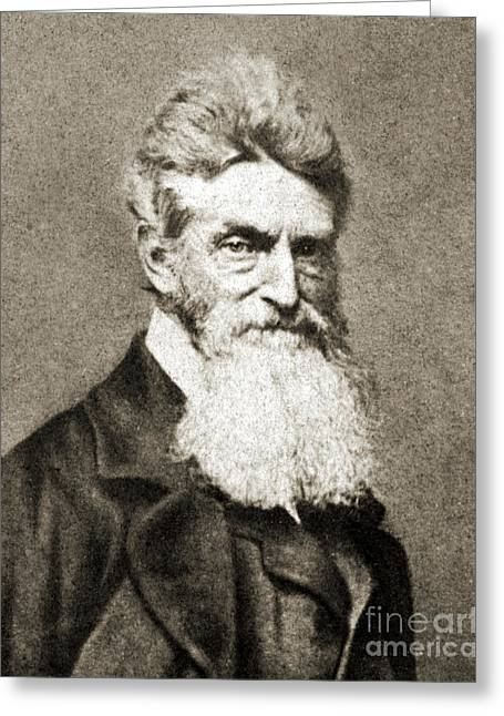 Pottawatomie Greeting Cards - John Brown, American Abolitionist Greeting Card by Photo Researchers