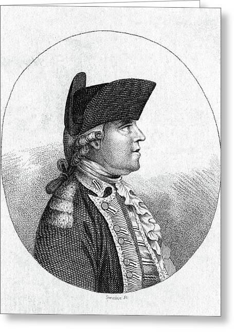 John Burgoyne (1722-1792) Greeting Card by Granger