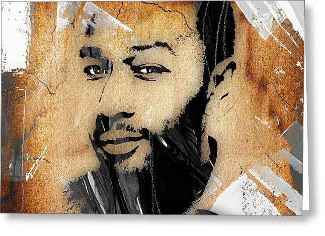 Singer Greeting Cards - John Legend Collection Greeting Card by Marvin Blaine