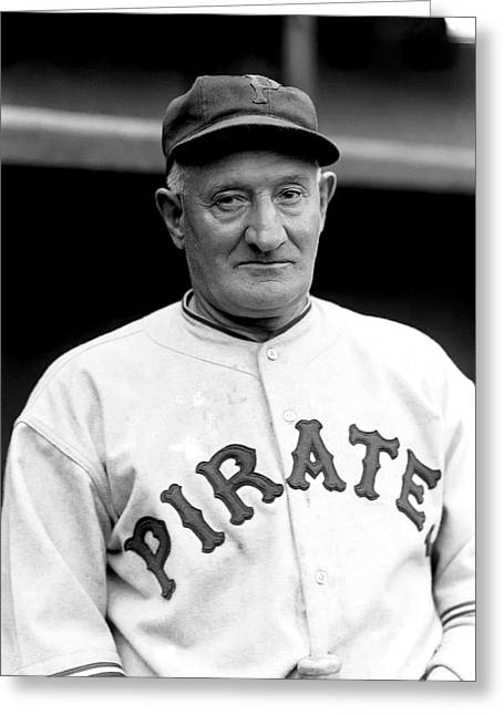 Century Series Greeting Cards - John P. Honus Wagner Greeting Card by Retro Images Archive