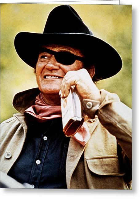 True Grit Greeting Cards - John Wayne in True Grit  Greeting Card by Silver Screen