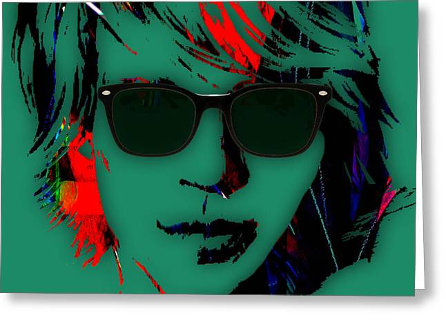 Pop Mixed Media Greeting Cards - Jon Bon Jovi Collection Greeting Card by Marvin Blaine