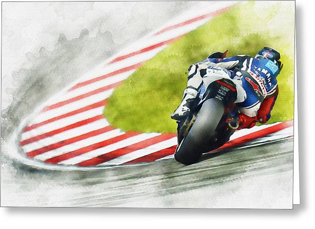 Roberto Greeting Cards - Jorge Lorenzo - Team Yamaha Racing Greeting Card by Don Kuing