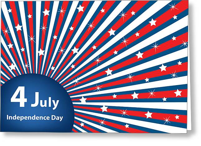 4th July Digital Greeting Cards - 4 July independence day background Greeting Card by Toots Hallam