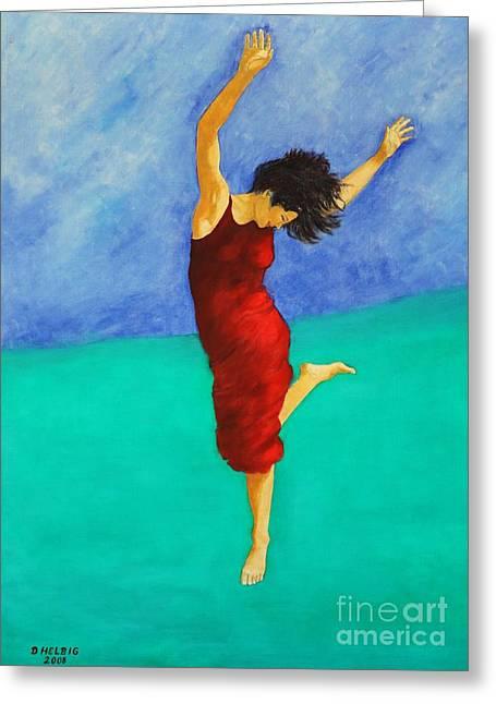 Dagmar Greeting Cards - Jump Of Joy Greeting Card by Dagmar Helbig