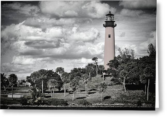Beaming Greeting Cards - Jupiter lighthouse  Greeting Card by Rudy Umans