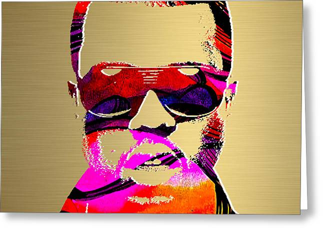 Kanye West Gold Series Greeting Card by Marvin Blaine