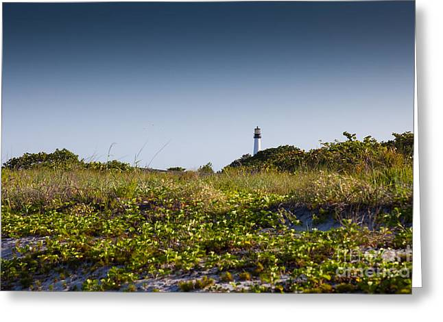 Bill Baggs Greeting Cards - Key Biscayne Greeting Card by Juan  Silva