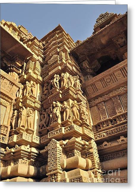 Mahadeva Greeting Cards - Khajuraho India  Greeting Card by Rudra Narayan  Mitra