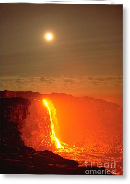 Aa Greeting Cards - Kilauea Volcano Greeting Card by Stephen & Donna O