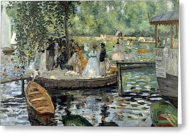 Grenouillere Greeting Cards - La Grenouillere Greeting Card by Pierre-Auguste Renoir