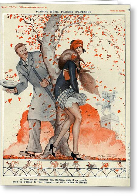 Twentieth Century Greeting Cards - La Vie Parisienne 1929 1920s France Cc Greeting Card by The Advertising Archives