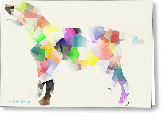 Abstract Of Dogs Greeting Cards - Labrador Greeting Card by Bri Buckley