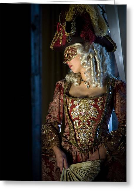 Duchess Greeting Cards - Lady in Mask Greeting Card by Zina Zinchik