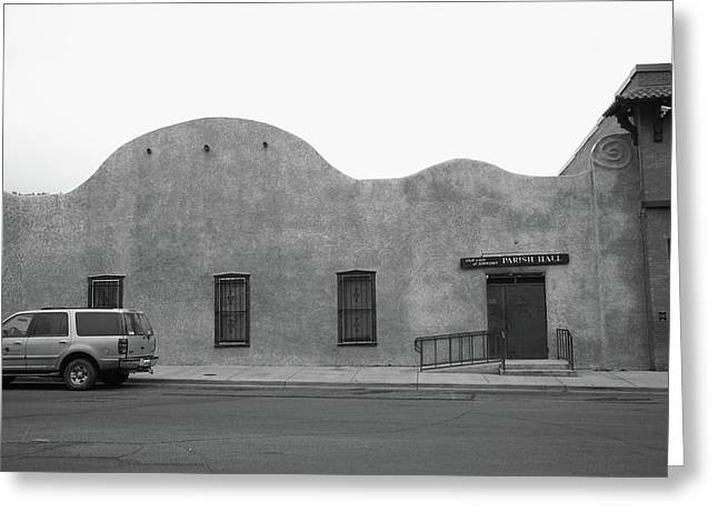 Adobe Greeting Cards - Las Vegas New Mexico Church Greeting Card by Frank Romeo