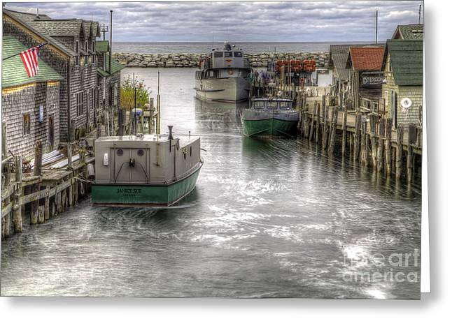 Leland Greeting Cards - Leland River Greeting Card by Twenty Two North Photography