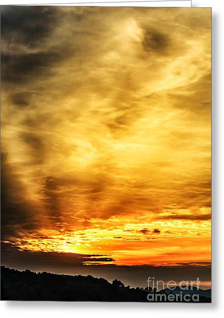 Colorful Cloud Formations Greeting Cards - Light Breaks Through Greeting Card by Thomas R Fletcher